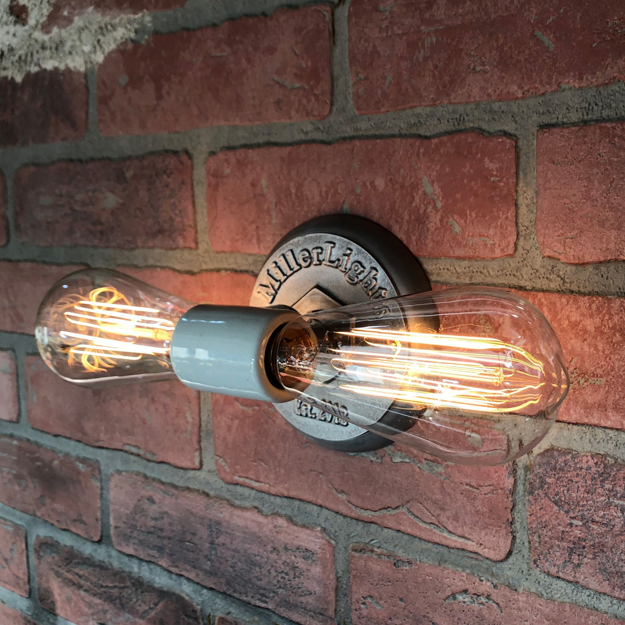 Double Bare Bulb Light Fixture Industrial Wall Sconce With Etsy In 2020 Bare Bulb Lighting Industrial Wall Sconce Industrial Light Fixtures