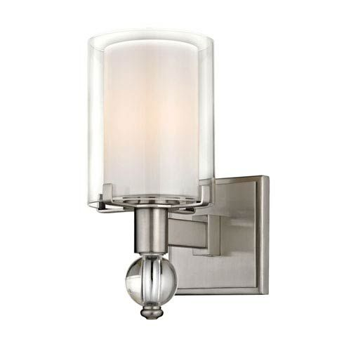 251 First Cooper Satin Nickel One Light Wall Sconce Bellacor In 2020 Wall Lights Wall Sconce Lighting Glass Diffuser