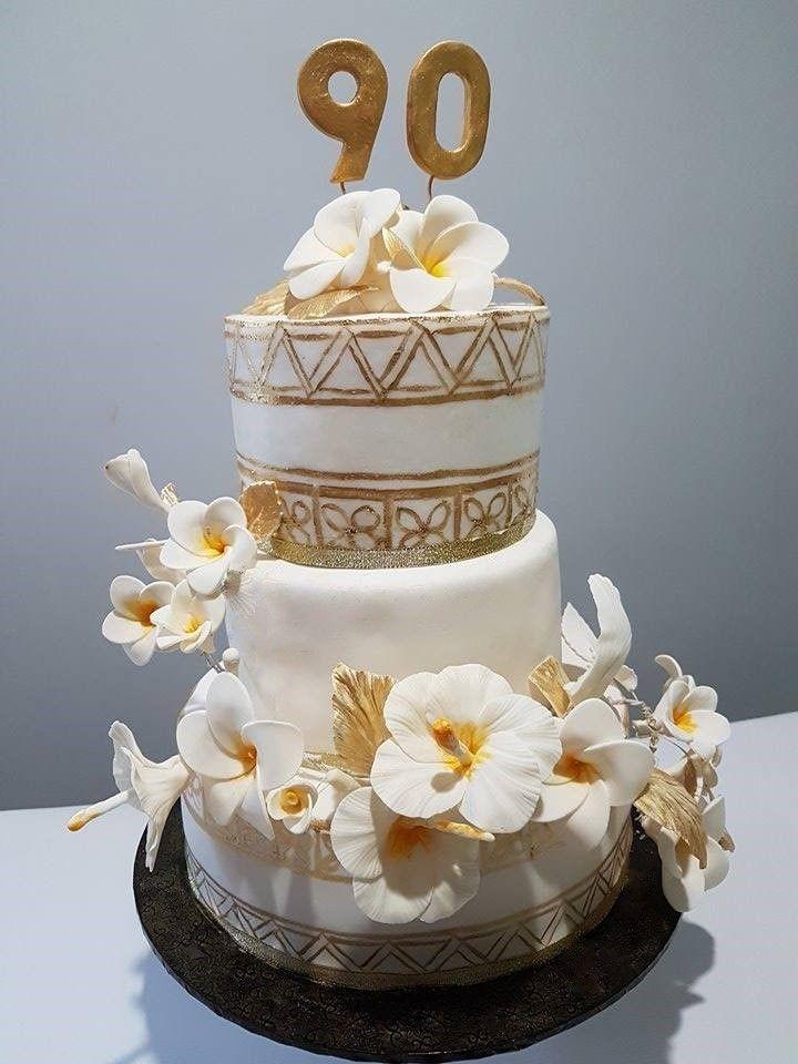 90th birthday cake hibiscus flower cake frangipani cake