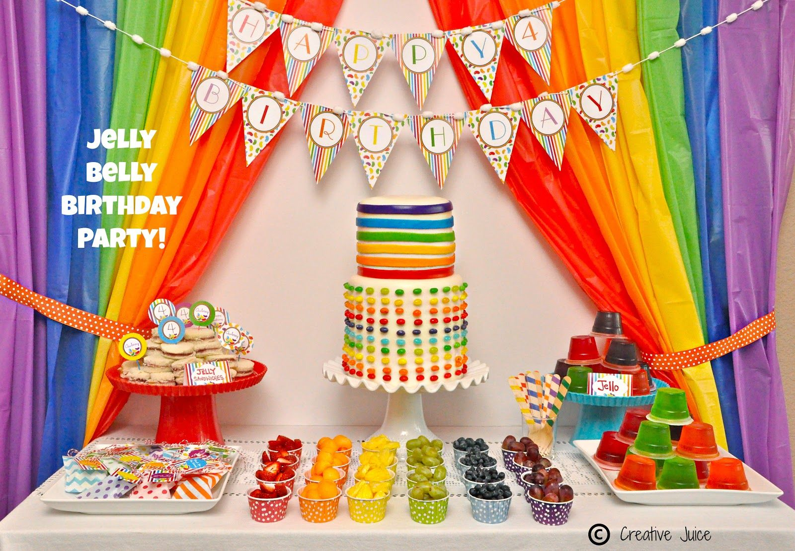 Rainbow Jelly Bean Birthday Party Ideas Decoracion Arcoiris