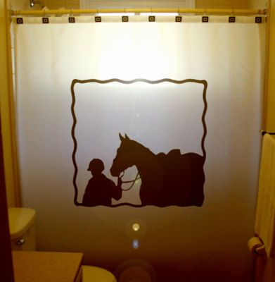 Equestrian Horse Shower Curtain Western By Customshowercurtains