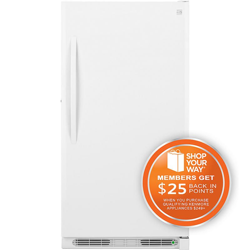 Kenmore 22442 13 8 Cu Ft Upright Freezer White At Sears