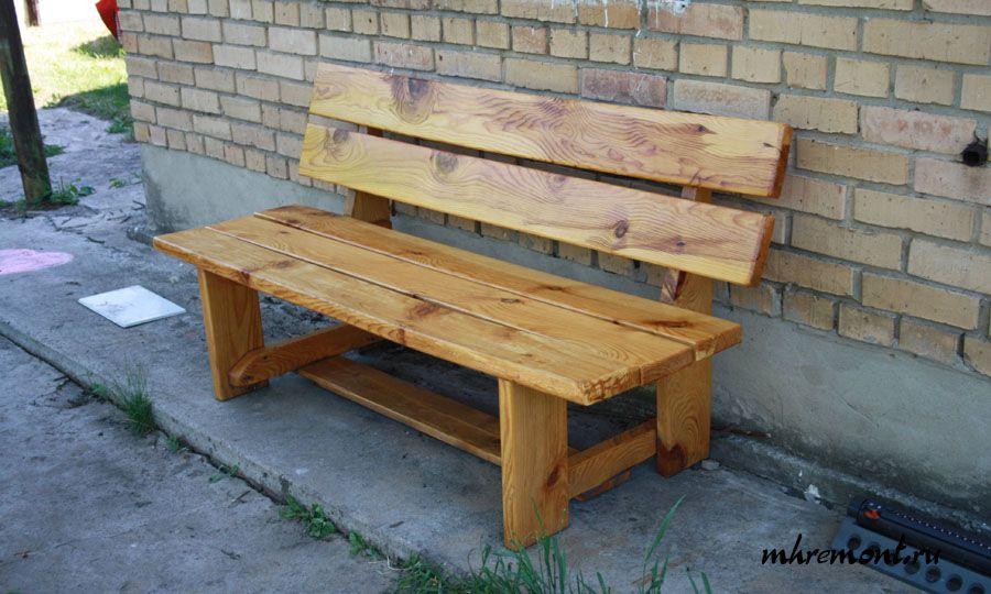 Скамейка из старых досок своими руками фото