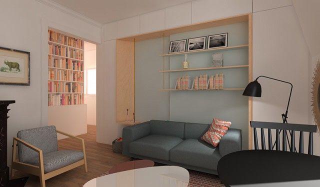 Changer  repenser la séparation entre un séjour et une chambre