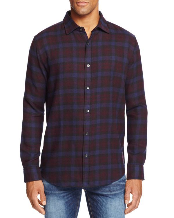 The Men's Store at Bloomingdale's Plaid Regular Fit Button Down