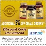 Solgar Specials - Additional 5% Off on all orders