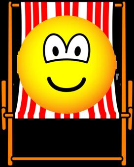 Deck Chair Emoticon Illustraties