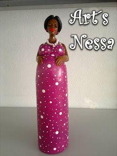 Art's Nêssa - Artesanato: Chiquita casada (magenta)