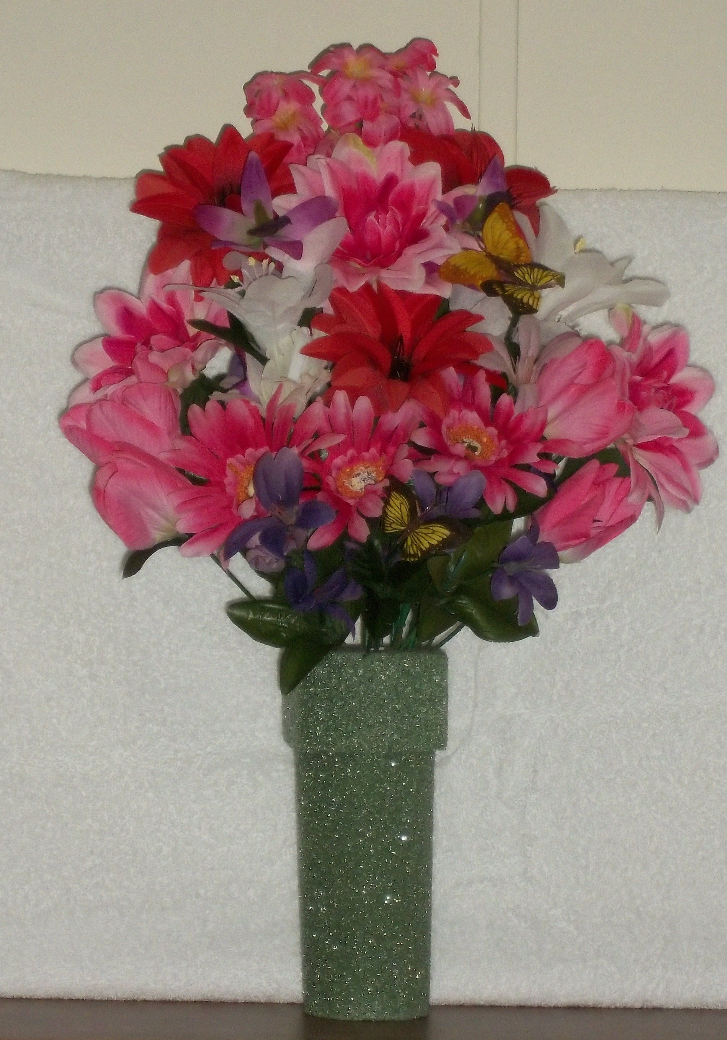 Flower Vase Decoration 2013 Floral Design For Cemetery Decoration Craft Ideas