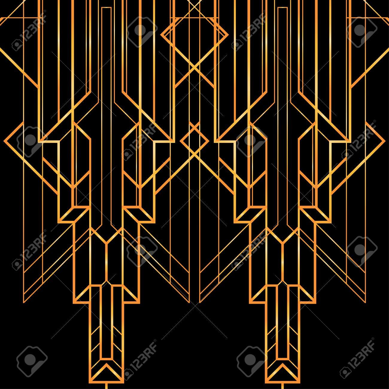 Art Deco Geometric Pattern 1920 S Style Royalty Free Cliparts