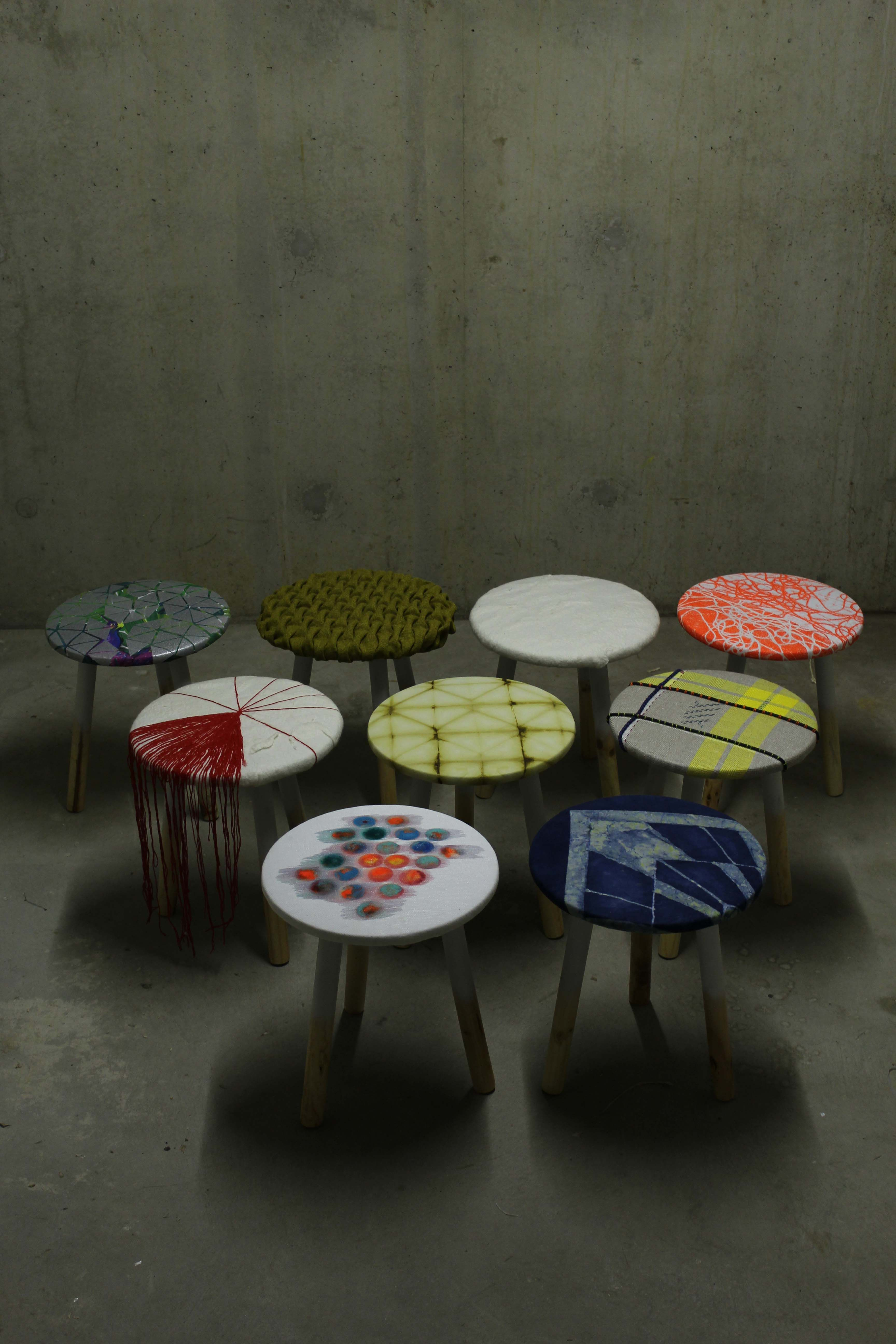 Krukjes diverse textieltechnieken © Mariken Dormans