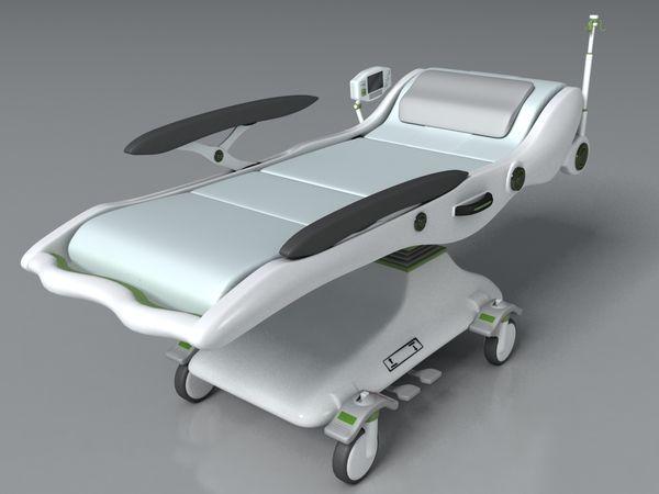 Emergency Bed design by Jinhui Kevin Li, via Behance