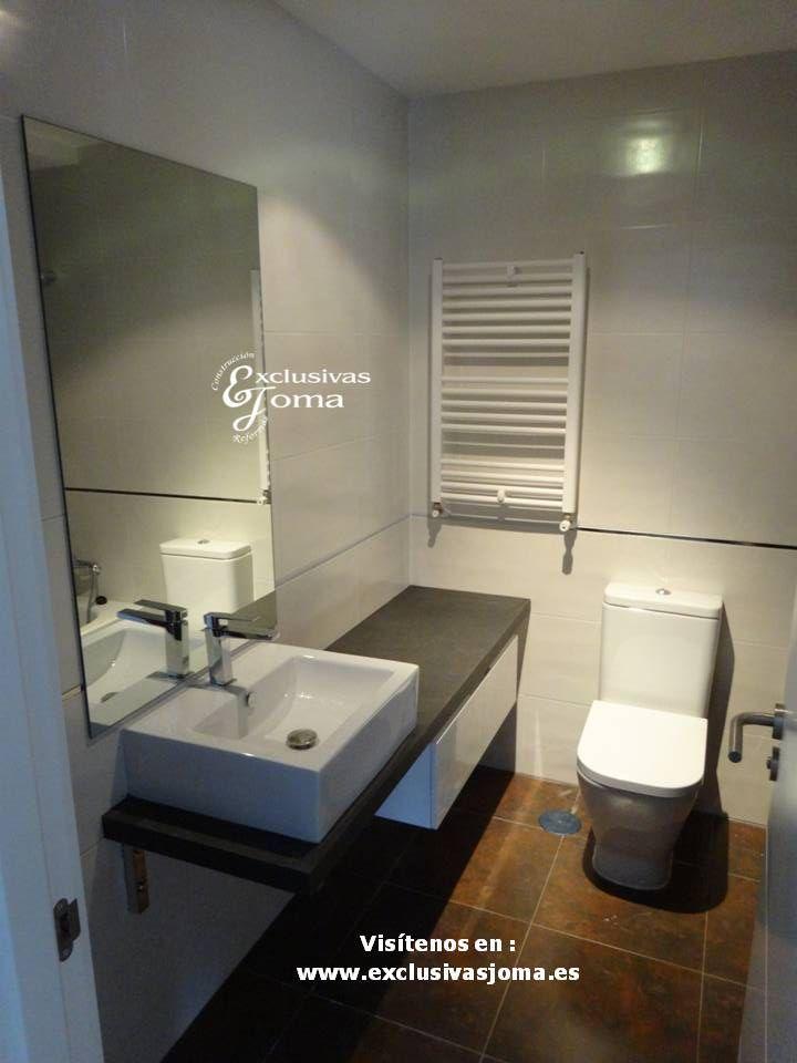 Reforma de ba o realizada con mueble de ba o suspendido - Muebles de bano con lavabo sobre encimera ...