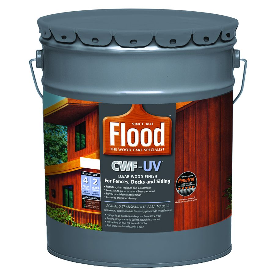 Flood Cwf Uv Cedar Toner Exterior Stain Actual Net Contents 640 Fl Oz Exterior Stain Wood Deck Stain Staining Deck