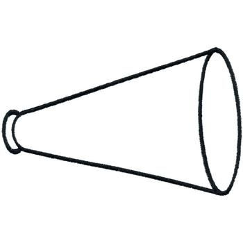 Printable cheer megaphone outline cheer pinterest for Printable cheerleading coloring pages