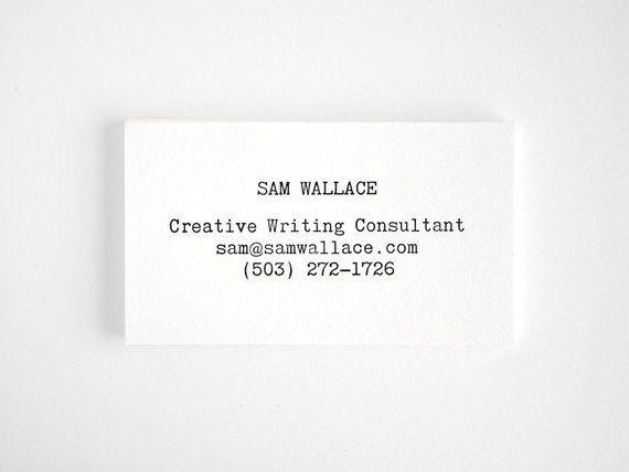 Typewriter Letterpress Business Cards Editor Style Modern