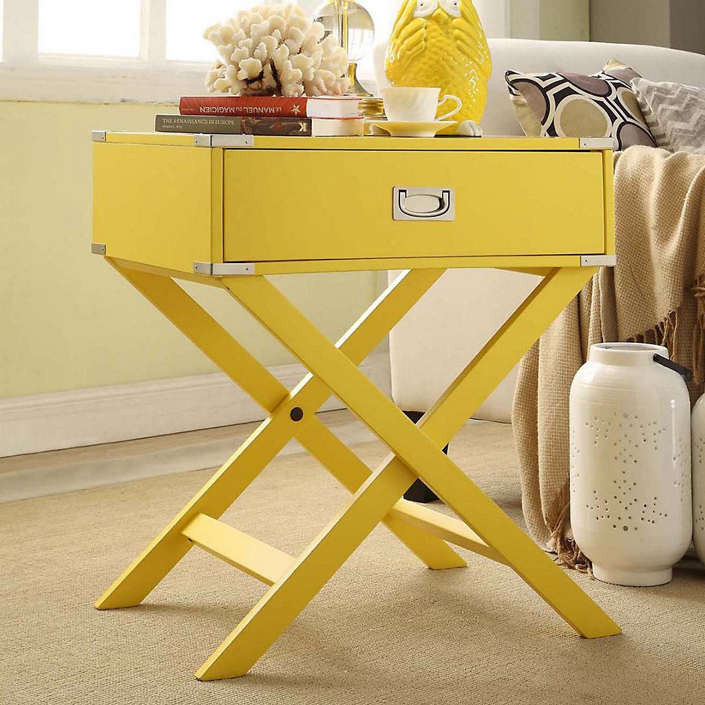 Homevance morgan campaign end table want pinterest