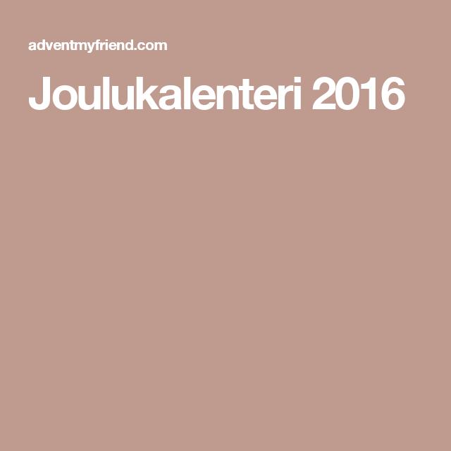 Joulukalenteri 2016