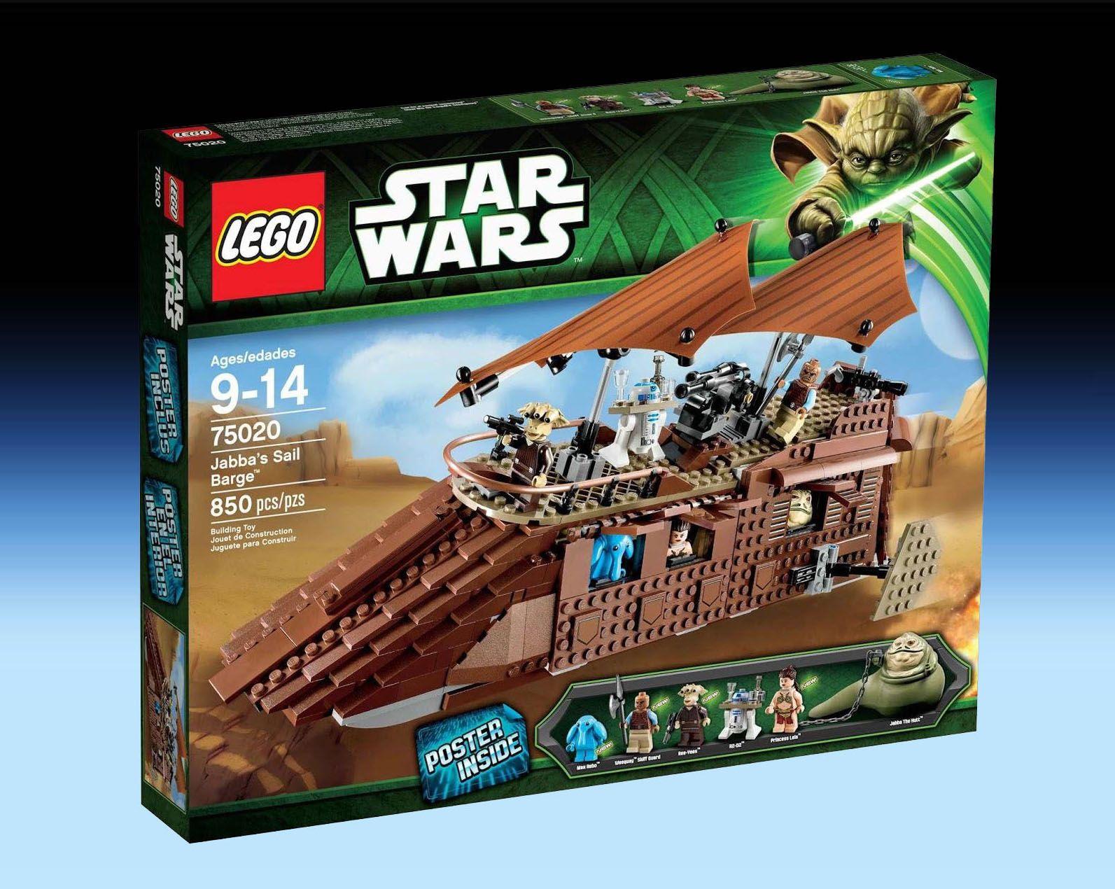NEW LEGO Star Wars 75020 Jabba/'s Sail Barge w// manual *NO MINIFIGURES*