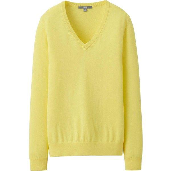 UNIQLO Women Cotton Cashmere V Neck Sweater | Uniqlo women