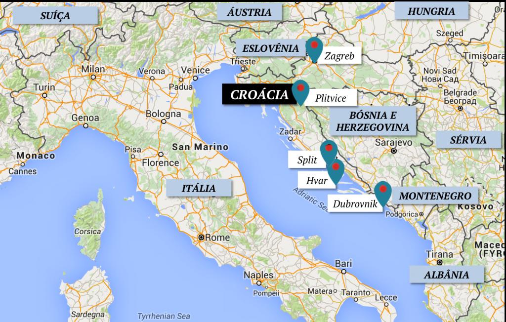 Mapa Croacia Lalarebelo Dubrovnik Zadar Zagreb
