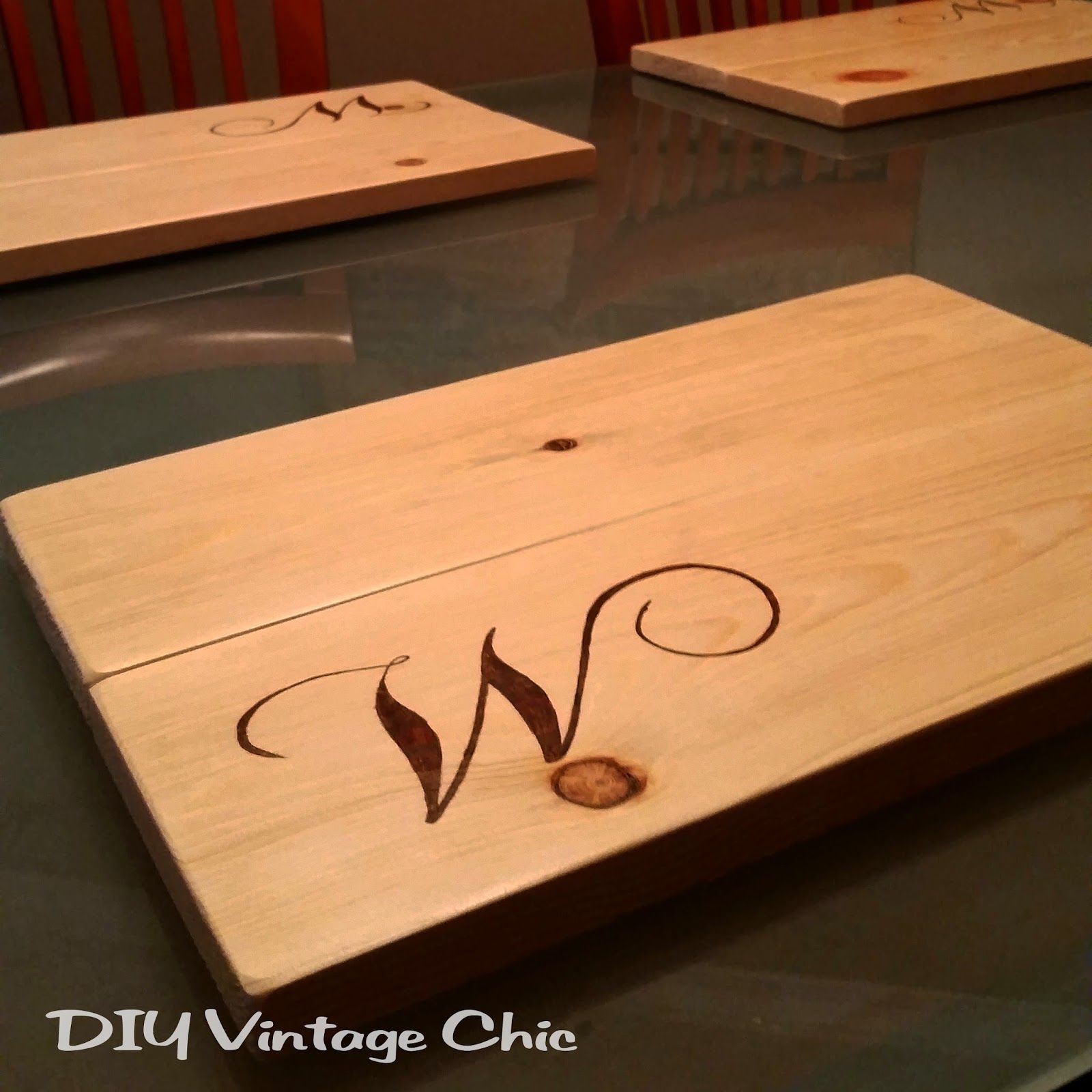 Diy Table Coasters Diy Vintage Chic Diy Custom Monogram Wooden Placemats