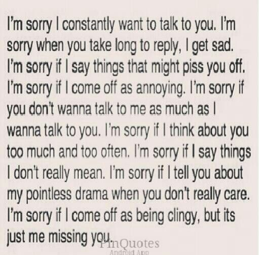 Im Sorry I Thought You Actually Cared About Me For Relationships
