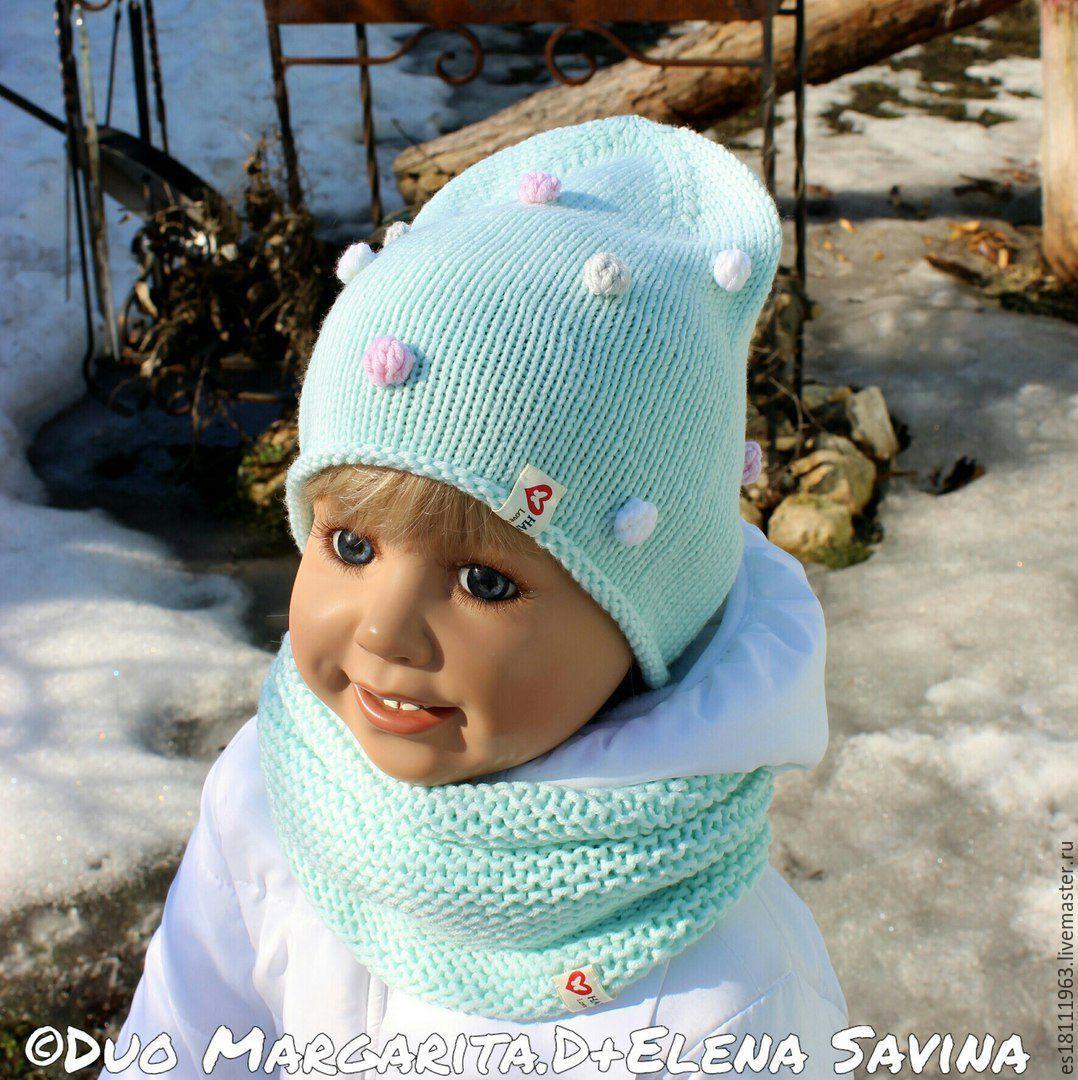 Вязаная шапочка для девочек своими руками фото 230