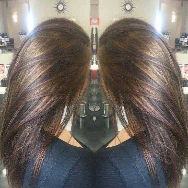 Oscuro Con Rayitos Color Cobre Rayitos Hair Hair
