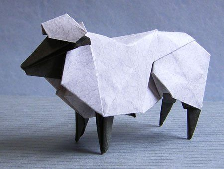 3D Origami Sheep A Great Gift!