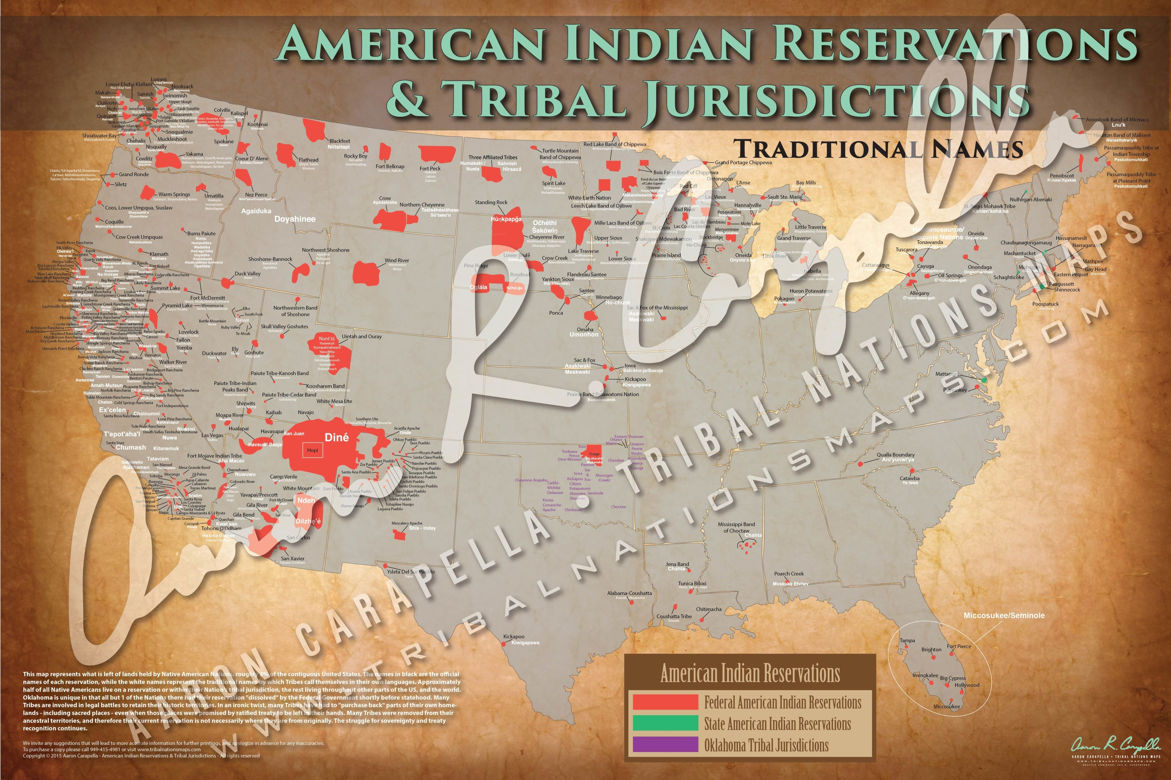Comprehensive Tribal maps of the Native American and First Nations