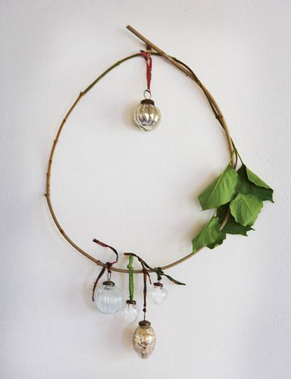 twig + branch holiday wreath