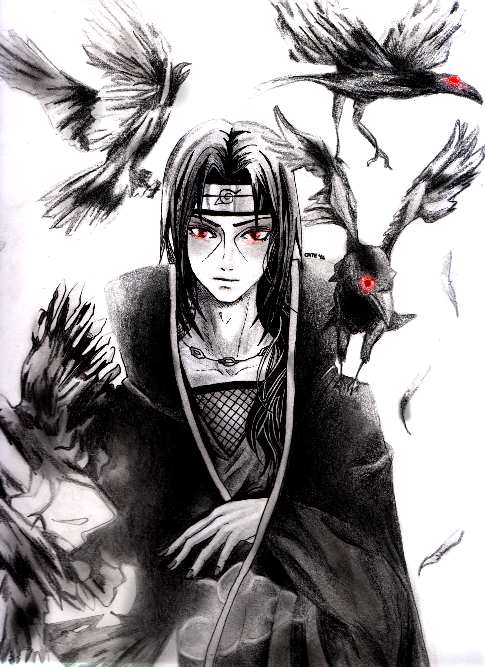 Itachi Uchiha And His Crows Wallpaper