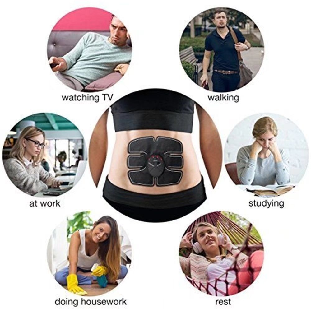 KingFurt Massage Trainer Sticker Abdominal Toner Belt