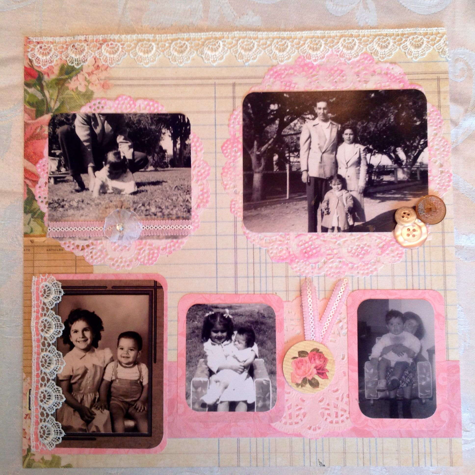How to scrapbook memories - Custom Made To Order Vintage Chic Shabby Scrapbook Page By Fresh Memories Paper Crafts