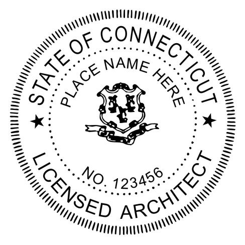 Architect MaxLight Pre Inked Rubber Stamp Of Seal | Architects And Products