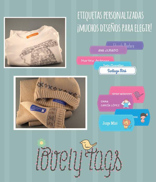 Etiquetas personalizadas para la ropa con mucho encanto