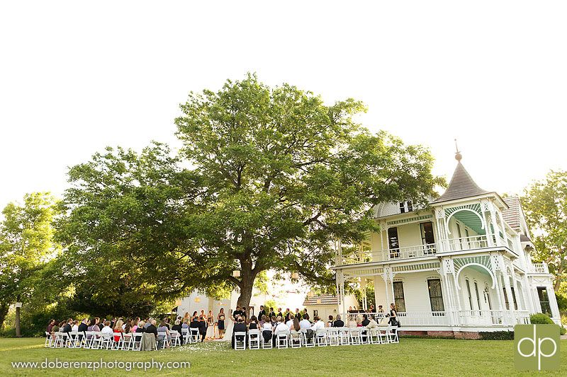 Ceremony under the tree, Barr Mansion, Austin TX.  Late May, 7 PM ceremony start.