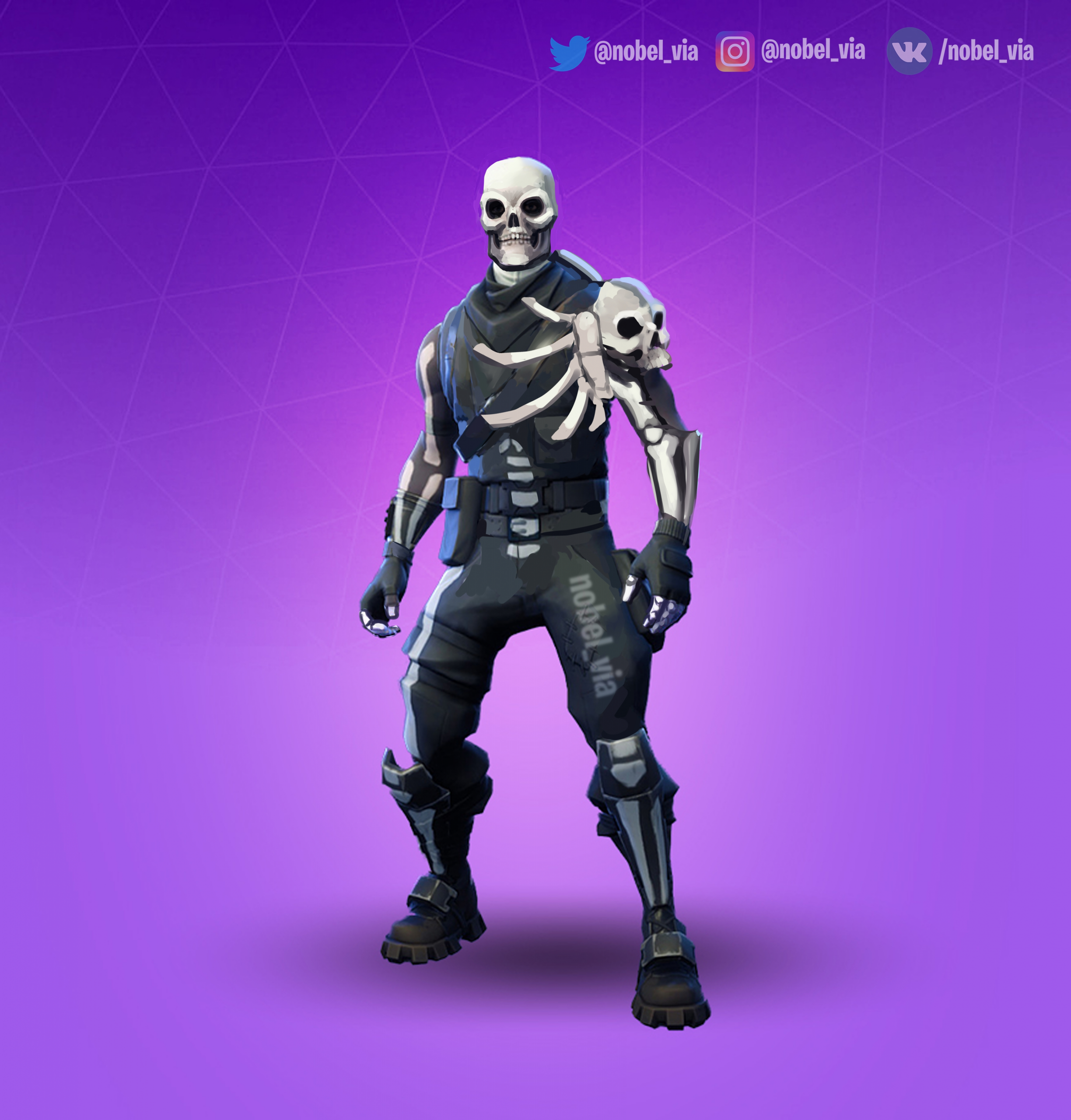 Coloriage Fortnite Skin Goule I Know That Skull Trooper Suppose To Be Just Halloween Scaled