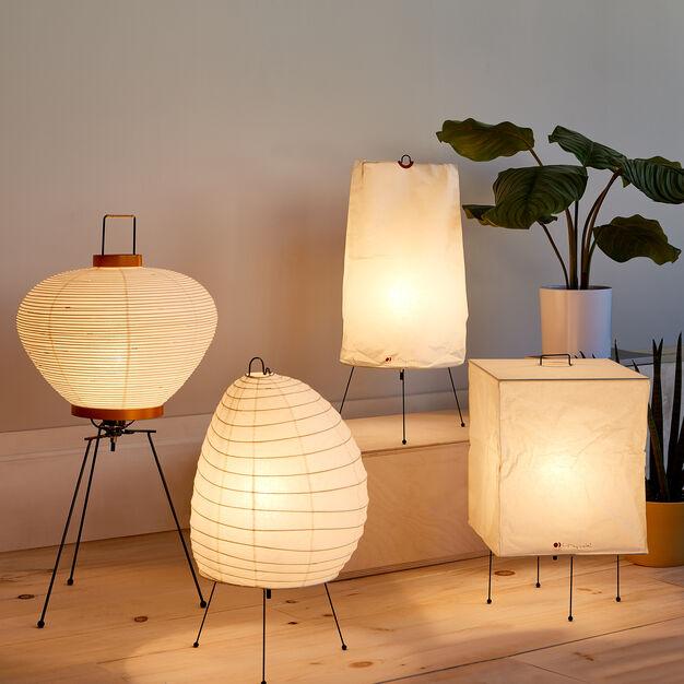 Akari Light Sculpture Model 1n Paper Lantern Lights Japanese Lighting Light Sculpture
