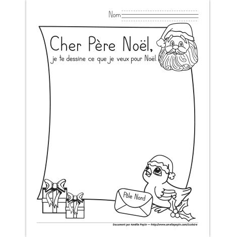 Dessin Au Père Noël Lettre Pere Noel Pere Noel A Imprimer