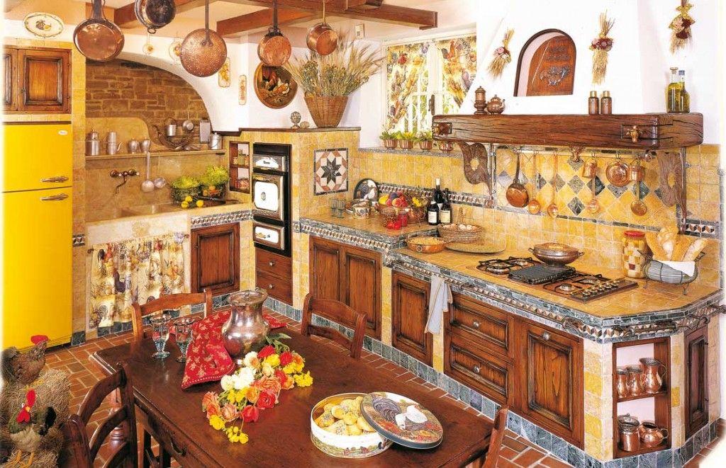 cucine in muratura fonte del rustico