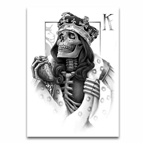 King And Queen Skull Tattoos Google Search Wedding Ring Tattoos Og Abel Art Calaveras Arte