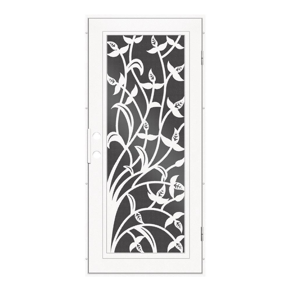 Unique Home Designs 30 In. X 80 In. Yale White Right Hand Surface