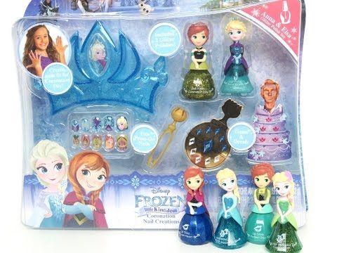 New Frozen Coronation Day Nail Creations Disney Princess Little Kingdom Set Elsa Anna By Celebnyc Disney Frozen Toys Frozen Toys Kids Toy Shop