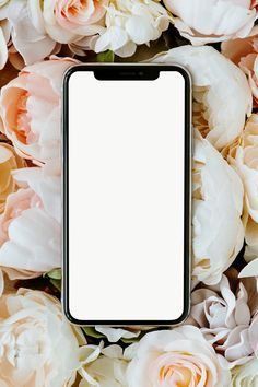 Download free png of Blank black phone mockup on pastel roses  by Gade about mockup, phone, flower, png phone mockup, and mobile mockups 2439168
