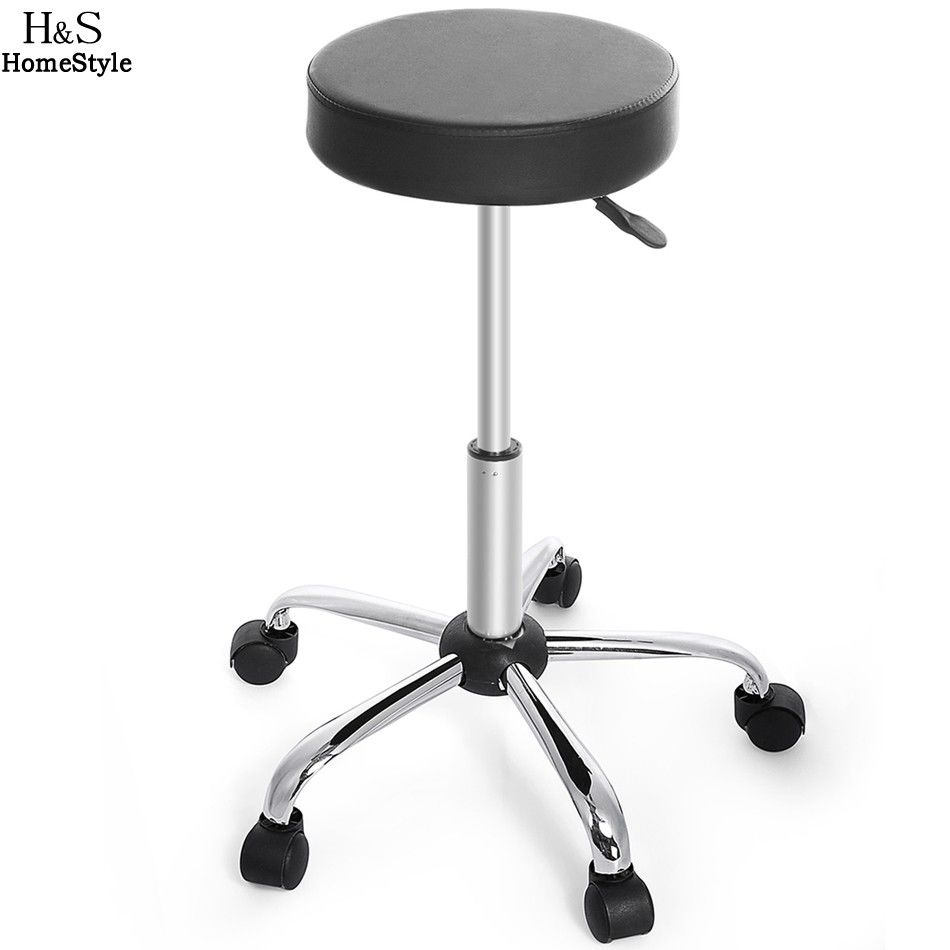 bar stool with wheels. Homdox Synthetic Leather Round Barstool Adjustable High Wheels Bar Stool Modern Chair Black With Z