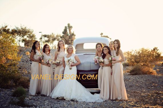 8d009688944 IVORY Bridesmaid Dress Infinity CONVERTIBLE Dress Long Short Wrap ...