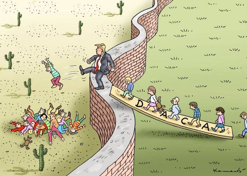 Image result for cartoons about president's wall