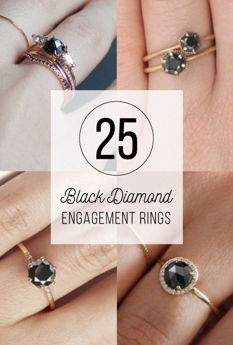 Black Engagement Rings | Engagement, Ring and Alternative bride